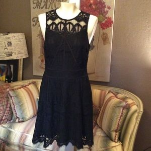 2 for $40 Adelyn Rae Black Lace Fit & Flare Dress
